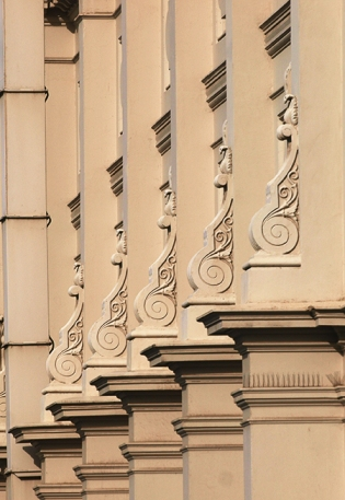 architectural detail on the royal exhibition building in carlton gardens, melbourne australia
