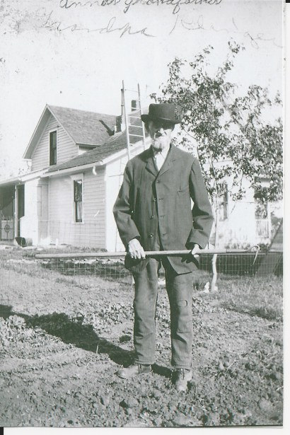 jill's great-great-great grandfather posing on the farm