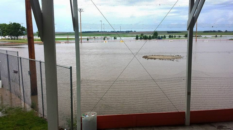 ball field flood 2015 view from grandstand